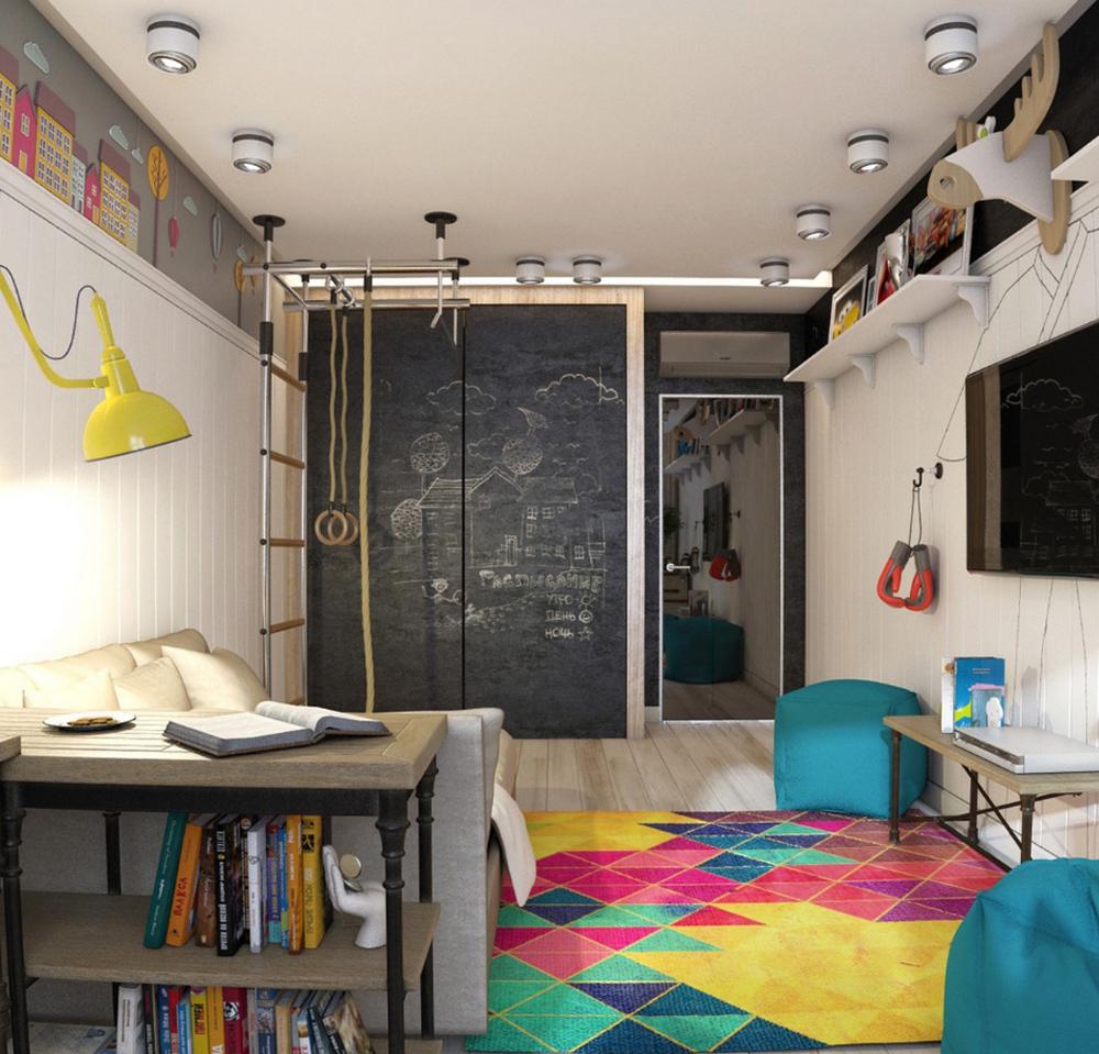 Интерьер детской комнаты для мальчика-подростка фото