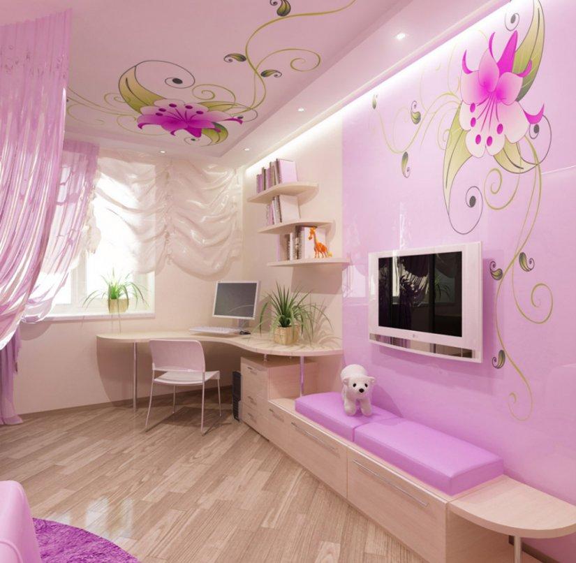 Дизайн в детской комнате фото для девочек идеи